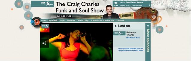Craig Charles horizontal