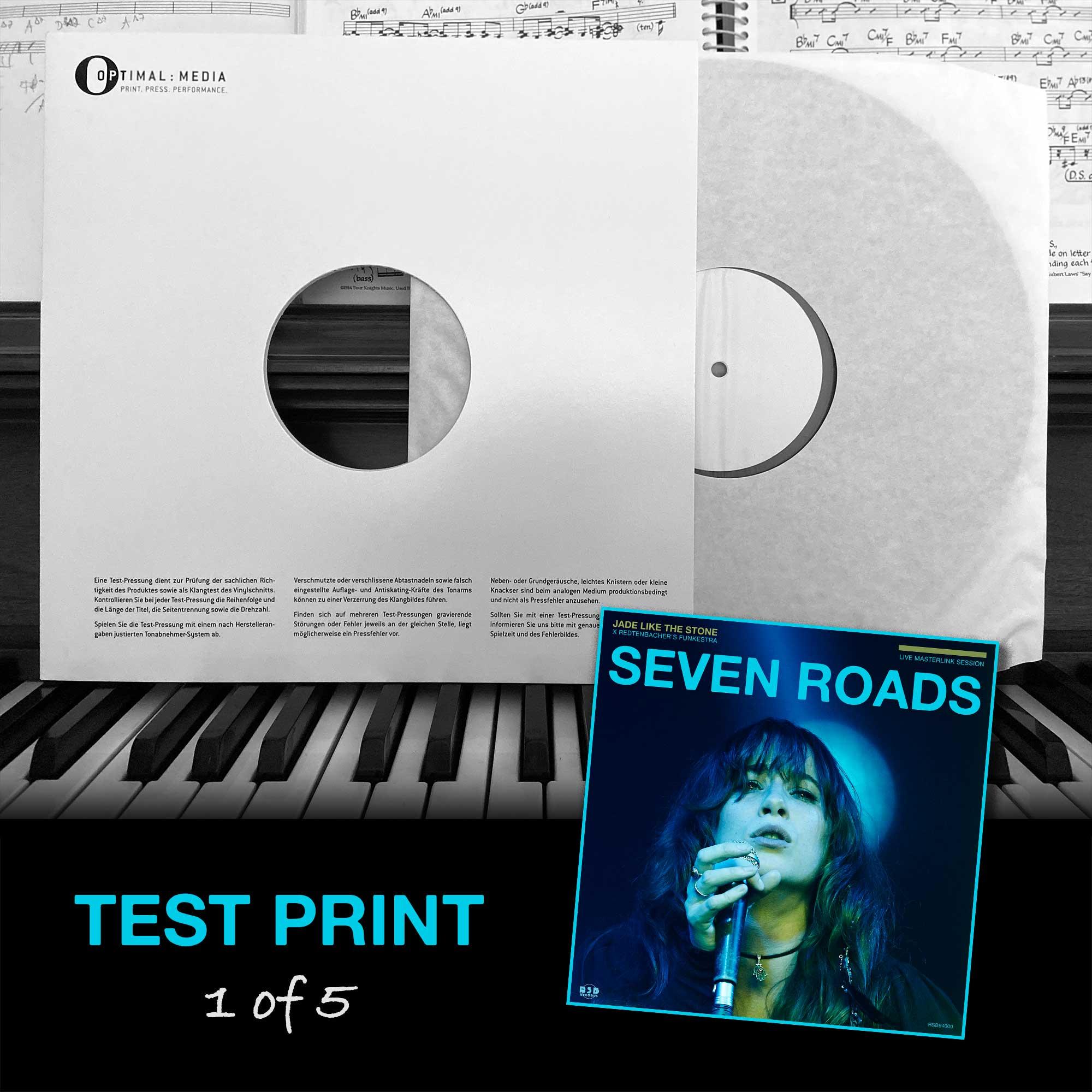 Seven Roads | Jade Like The Stone X Redtenbacher's Funkestra | Test Print